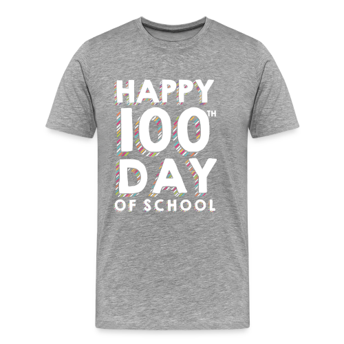 Happy 100th Day of School | Colorful Sprinkles - Men's Premium T-Shirt