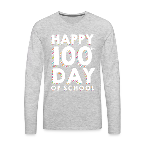 Happy 100th Day of School | Colorful Sprinkles - Men's Premium Long Sleeve T-Shirt