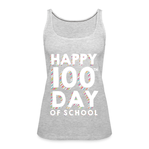 Happy 100th Day of School | Colorful Sprinkles - Women's Premium Tank Top