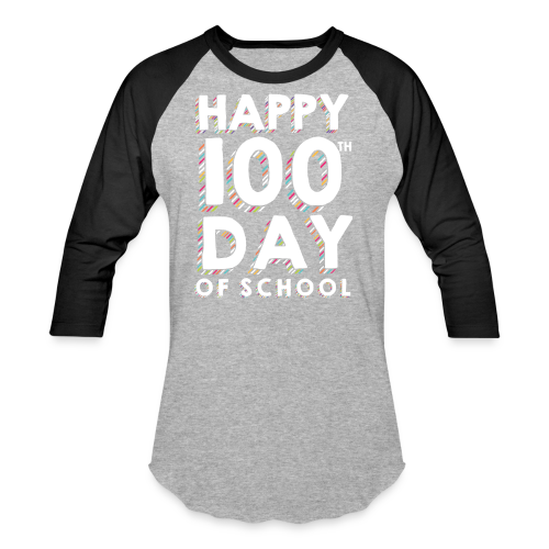 Happy 100th Day of School | Colorful Sprinkles - Baseball T-Shirt
