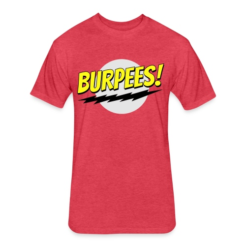Burpees - Red - Fitted Cotton/Poly T-Shirt by Next Level