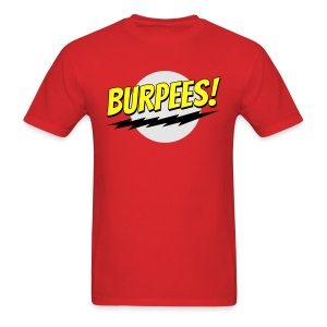 Burpees - Red - Men's T-Shirt