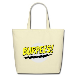 Burpees - Red - Eco-Friendly Cotton Tote