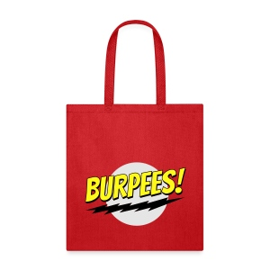 Burpees - Red - Tote Bag
