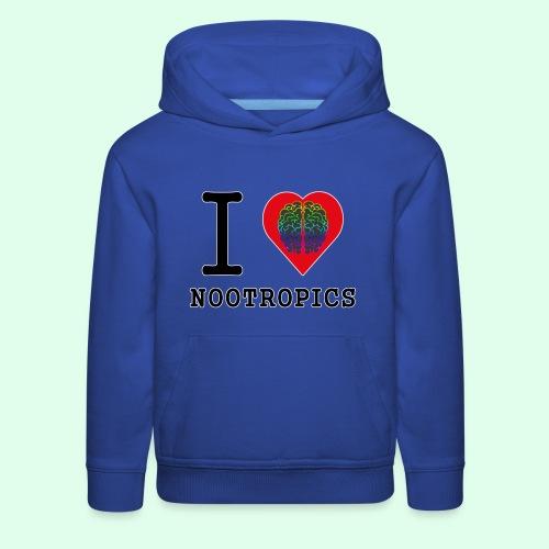 I HEART BRAIN NOOTROPICS - Kids' Premium Hoodie