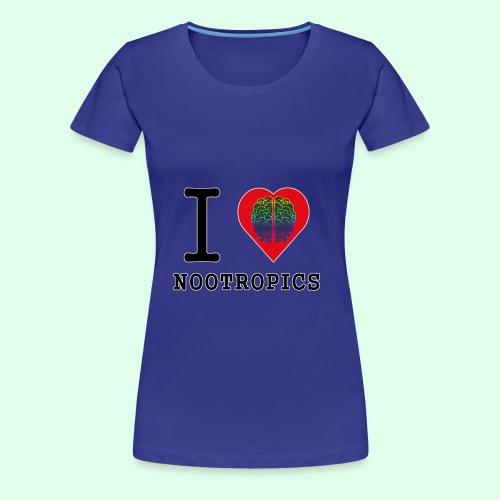 I HEART BRAIN NOOTROPICS - Women's Premium T-Shirt