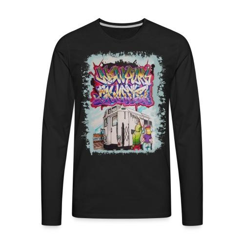 STEM - Design for New York Graffiti - Men's Premium Long Sleeve T-Shirt