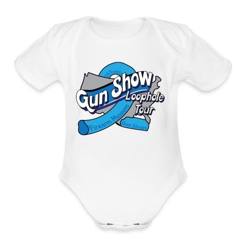 Gun Show Loophole Tour 2018 - Organic Short Sleeve Baby Bodysuit