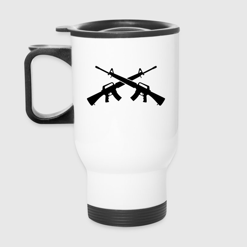 M16 Assault Rifles - Crossed - Travel Mug