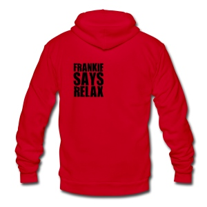 Frankie Says Relax - Unisex Fleece Zip Hoodie by American Apparel