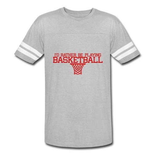 I'd Rather Be Playing Basketball t-shirt - Vintage Sport T-Shirt