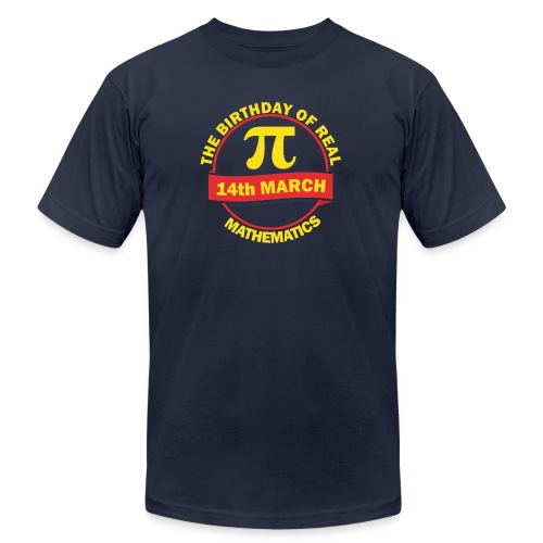 The Birthday of Real Mathematics - Men's  Jersey T-Shirt