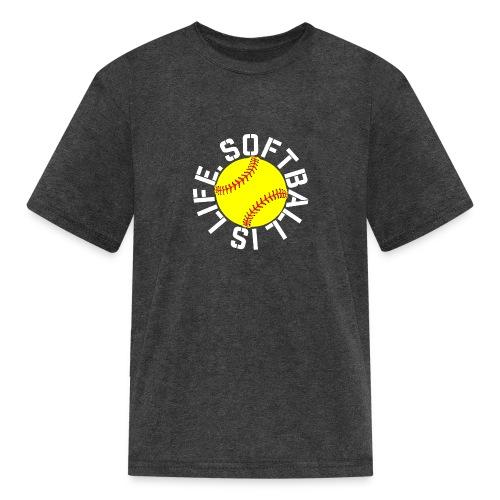 Softball is Life - Kids' T-Shirt