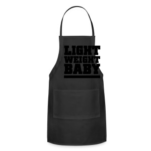 Light weight baby | Zipper hoodie (Back print) - Adjustable Apron