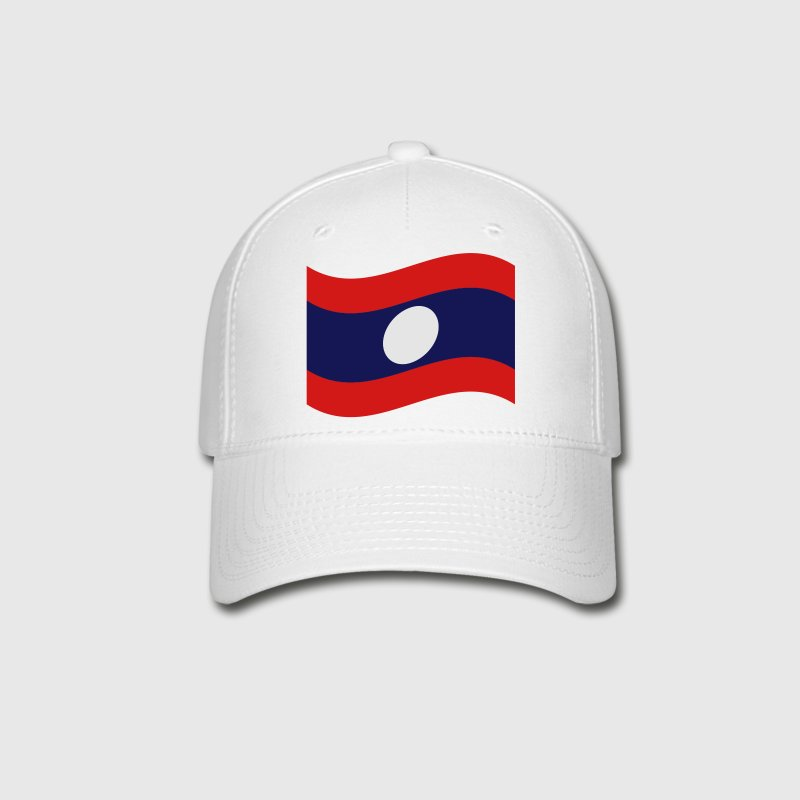 Laos / Lao Flag Wave Caps - Baseball Cap