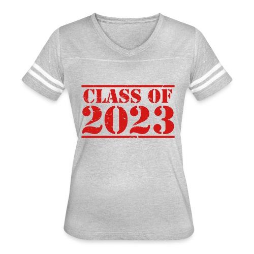 Class of 2023 distressed grad logo - Women's Vintage Sport T-Shirt