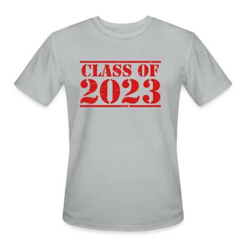 Class of 2023 distressed grad logo - Men's Moisture Wicking Performance T-Shirt