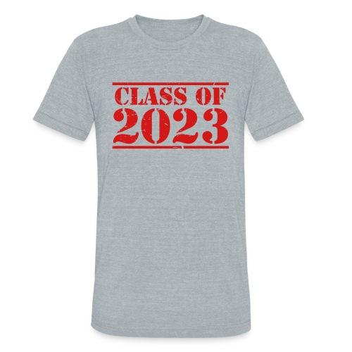 Class of 2023 distressed grad logo - Unisex Tri-Blend T-Shirt