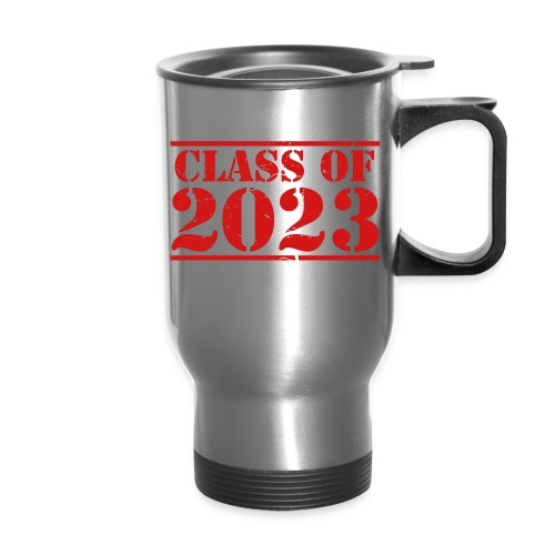 Class of 2023 distressed grad logo - Travel Mug