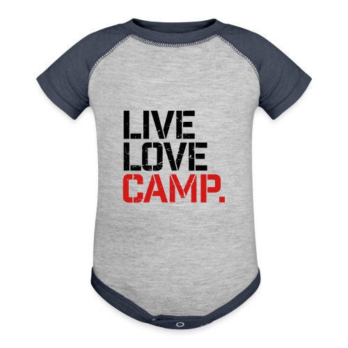 Live Love Camp - Contrast Baby Bodysuit