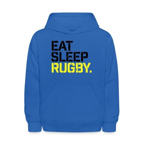 Eat Sleep Rugby - Kids' Hoodie