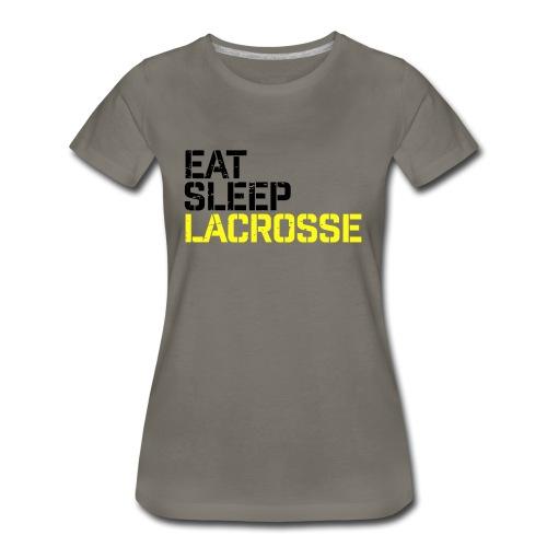 Eat Sleep Lacrosse - Women's Premium T-Shirt