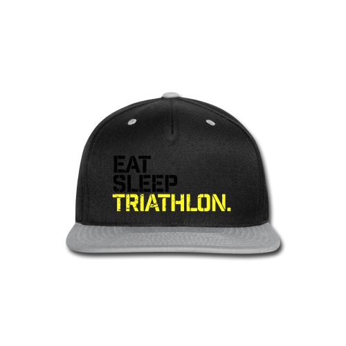 Eat Sleep Triathlon - Snap-back Baseball Cap