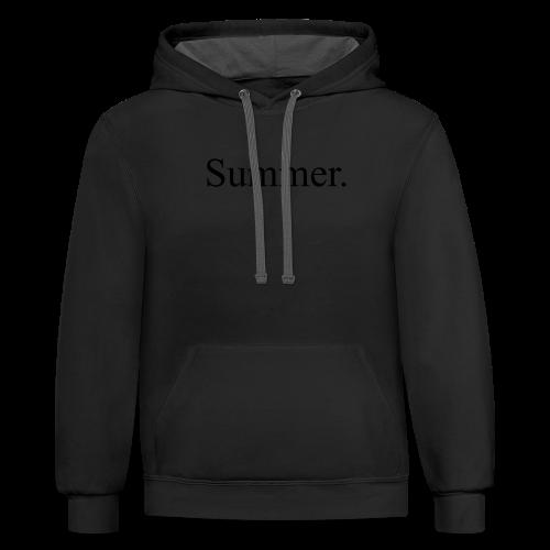 Summer.  - Contrast Hoodie