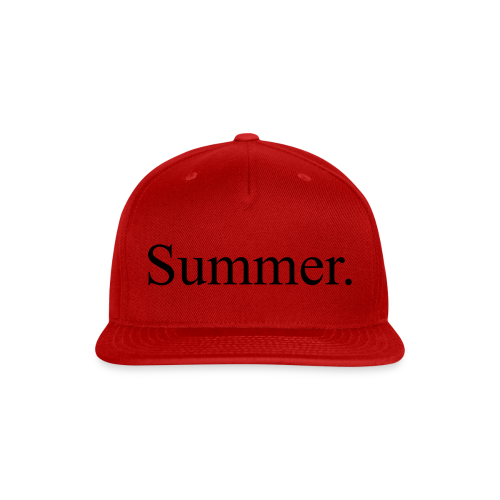 Summer.  - Snap-back Baseball Cap