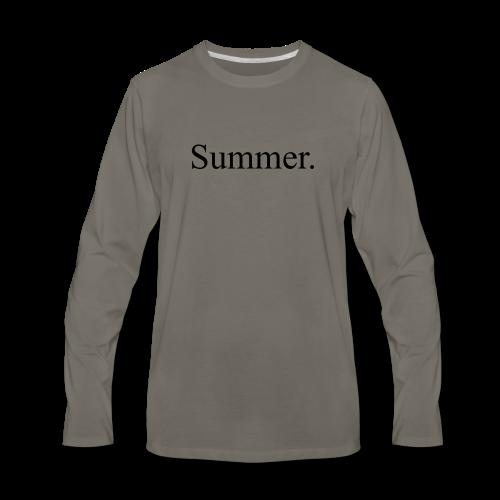Summer.  - Men's Premium Long Sleeve T-Shirt