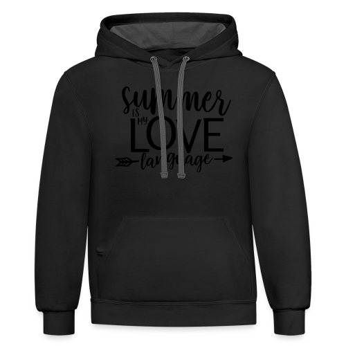 Summer Is My Love Language - Contrast Hoodie
