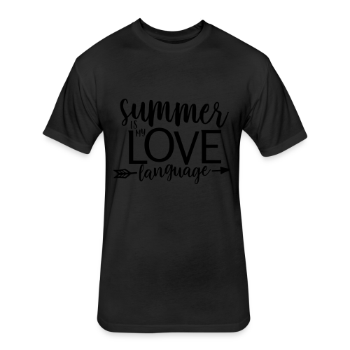 Summer Is My Love Language - Fitted Cotton/Poly T-Shirt by Next Level