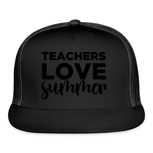 Teachers Love Summer | Metallic Gold  - Trucker Cap