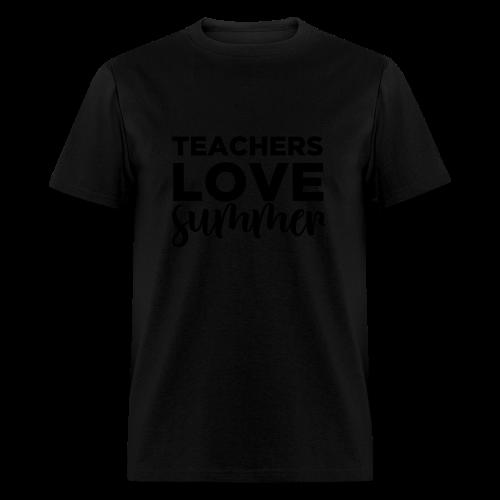 Teachers Love Summer | Metallic Gold  - Men's T-Shirt