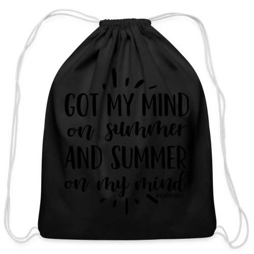 Got My Mind on Summer and Summer on My Mind - Cotton Drawstring Bag