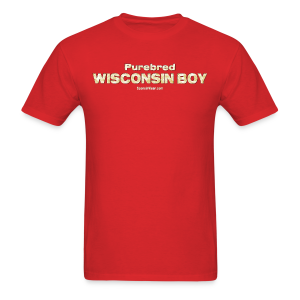 Purebred Wisconsin Boy  (Digital Print) - Men's T-Shirt