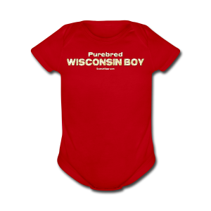 Purebred Wisconsin Boy  (Digital Print) - Short Sleeve Baby Bodysuit
