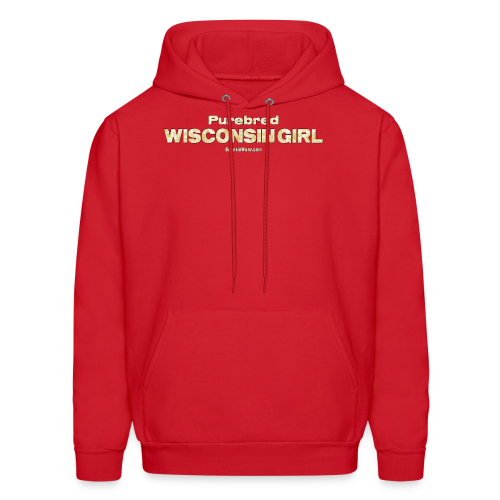 Purebred Wisconsin Girl  (Digital Print) - Men's Hoodie