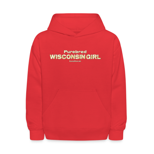 Purebred Wisconsin Girl  (Digital Print) - Kids' Hoodie