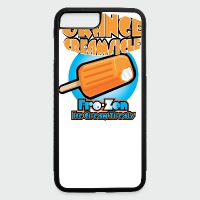Orange Creamsicle: Fro-zen Ice Cream Treats - iPhone 7 Plus/8 Plus Rubber Case