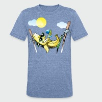 Banana Hammock - Unisex Tri-Blend T-Shirt by American Apparel