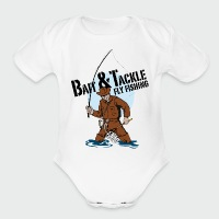 Bait & Tackle Fly Fishing - Short Sleeve Baby Bodysuit