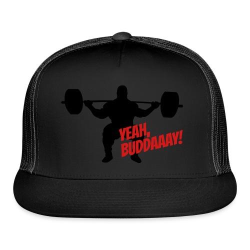 Yeah, Buddaaay! (Heather Black) - Trucker Cap