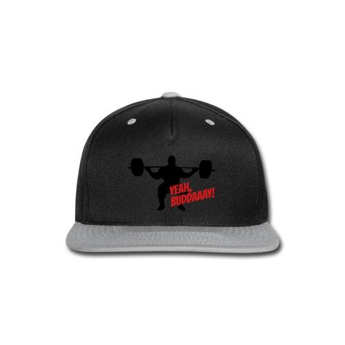 Yeah, Buddaaay! (Heather Black) - Snap-back Baseball Cap