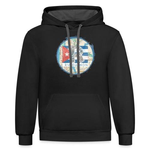2019 Ruedathon Tee Shirt Design - Contrast Hoodie