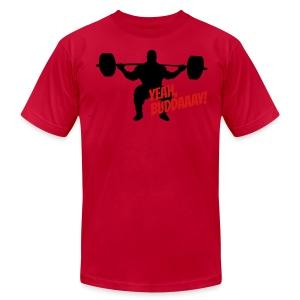 Yeah, Buddaaay! (Red) - Men's Fine Jersey T-Shirt