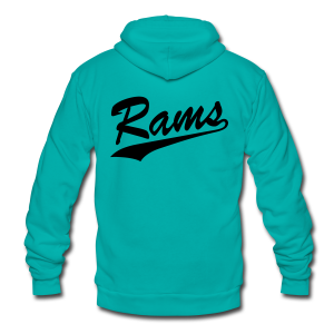 Rams - Mens - Unisex Fleece Zip Hoodie by American Apparel