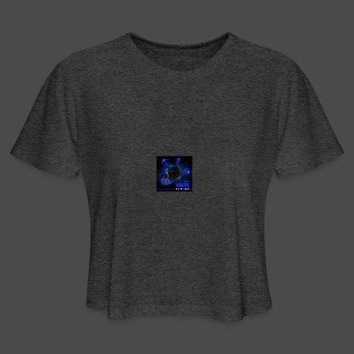 Official Electric Terror Mug (Blue) - Women's Cropped T-Shirt