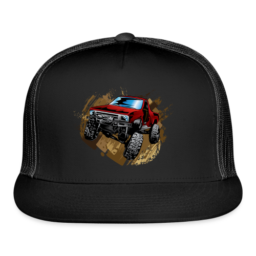 Red Rock Crawling Off-Road Truck Shirt - Trucker Cap
