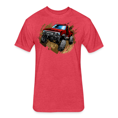 Red Rock Crawling Off-Road Truck Shirt - Fitted Cotton/Poly T-Shirt by Next Level